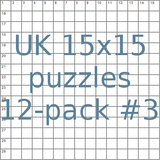 UK 15x15 puzzles 12-pack no.3