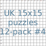 UK 15x15 puzzles 12-pack no.4