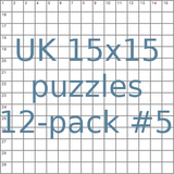 British 15x15 puzzles 12-pack no.5