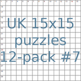 British 15x15 puzzles 12-pack no.7