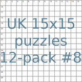 British 15x15 puzzles 12-pack no.8