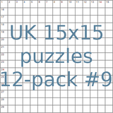 British 15x15 puzzles 12-pack no.9