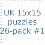 British 15x15 puzzles 26-pack no.1