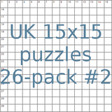 British 15x15 puzzles 26-pack no.2