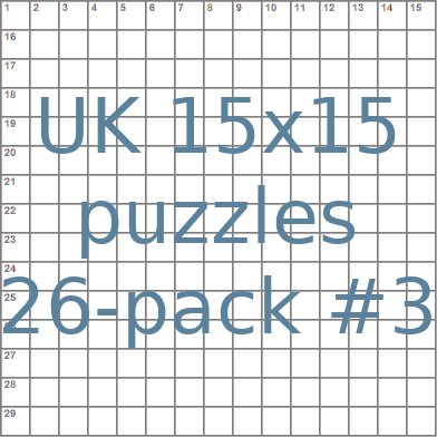 British 15x15 puzzles 26-pack no.3