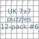 UK 7x7 mini-puzzles 12-pack no.6