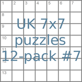 British 7x7 mini-puzzles 12-pack no.7