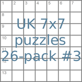 UK 7x7 mini-puzzles 26-pack no.3