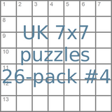 British 7x7 mini-puzzles 26-pack no.4