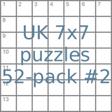British 7x7 mini-puzzles 52-pack no.2