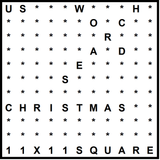 American 11x11 Wordsearch puzzle no.301 - Christmas