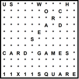 American 11x11 Wordsearch puzzle no.303 - card games