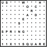 American 11x11 Wordsearch puzzle no.308 - Spring