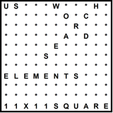American 11x11 Wordsearch puzzle no.322 - elements