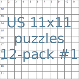 USA 11x11 puzzles 12-pack no.1