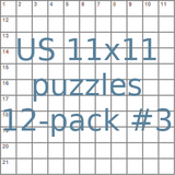 American 11x11 puzzles 12-pack no.3