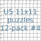 USA 11x11 puzzles 12-pack no.4
