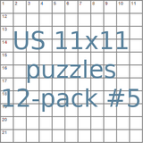 American 11x11 puzzles 12-pack no.5