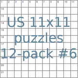 American 11x11 puzzles 12-pack no.6