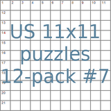 American 11x11 puzzles 12-pack no.7