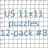 American 11x11 puzzles 12-pack no.8