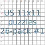 American 11x11 puzzles 26-pack no.1