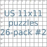 American 11x11 puzzles 26-pack no.2