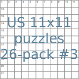 American 11x11 puzzles 26-pack no.3