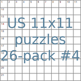 American 11x11 puzzles 26-pack no.4
