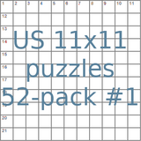 USA 11x11 puzzles 52-pack no.1