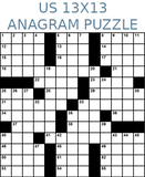 American 13x13 anagram crossword puzzle no.301