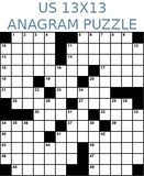 American 13x13 anagram crossword puzzle no.302