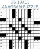 American 13x13 anagram crossword puzzle no.303