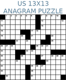 American 13x13 anagram crossword puzzle no.304