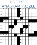 American 13x13 anagram crossword puzzle no.305