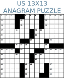 American 13x13 anagram crossword puzzle no.306