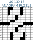 American 13x13 anagram crossword puzzle no.307