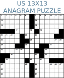 American 13x13 anagram crossword puzzle no.308