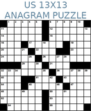 American 13x13 anagram crossword puzzle no.309