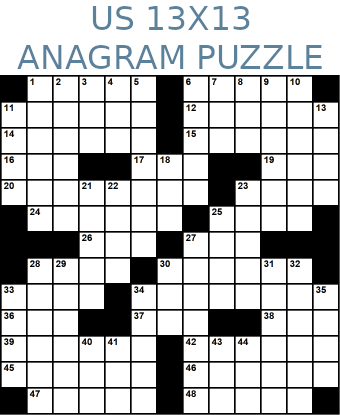 American 13x13 anagram crossword puzzle no.314