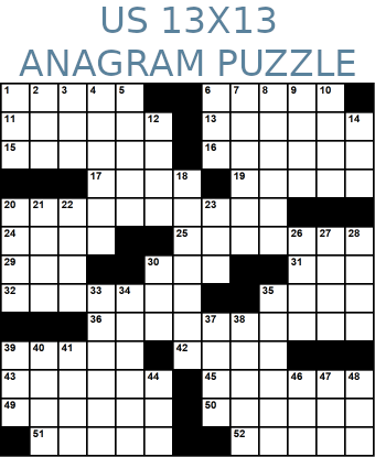 American 13x13 anagram crossword puzzle no.315