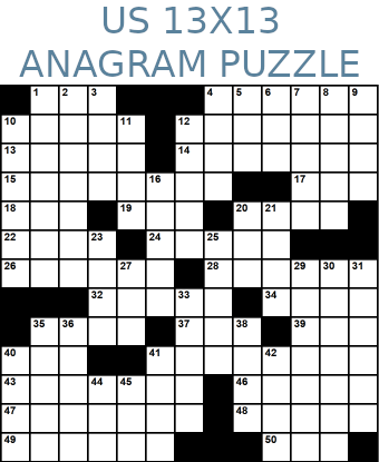 American 13x13 anagram crossword puzzle no.318