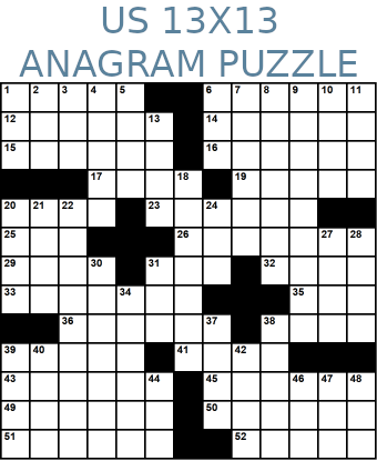 American 13x13 anagram crossword puzzle no.319