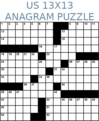 American 13x13 anagram crossword puzzle no.320
