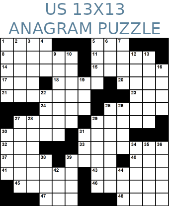 American 13x13 anagram crossword puzzle no.323
