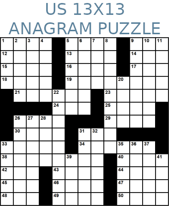 American 13x13 anagram crossword puzzle no.325
