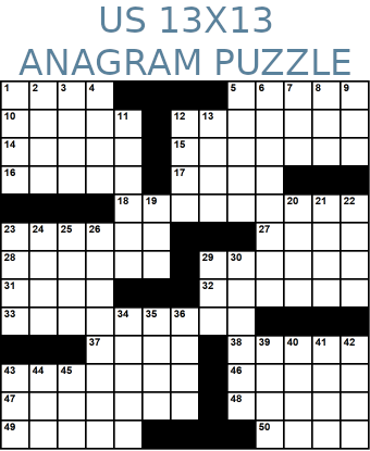 American 13x13 anagram crossword puzzle no.326
