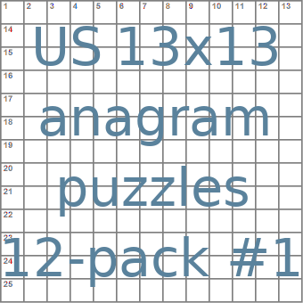 American 13x13 anagram crossword puzzles 12-pack no.1