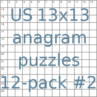 American 13x13 anagram crossword puzzles 12-pack no.2