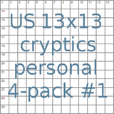 American 13x13 cryptic puzzles personal 4-pack no.1 (Not for publication)